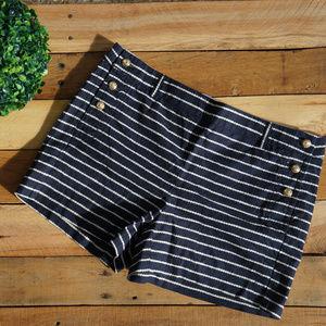 Cynthia Rowley Nautical High Waist Shorts